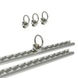 Afbeelding vanProPlus bindrails set aluminium 60 cm zilver 7 delig
