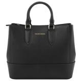 Εικόνα τουSaffiano leather handbag Black