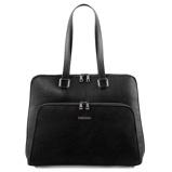 Εικόνα τουbusiness bag in soft leather for women Black