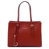 Εικόνα τουSaffiano leather handbag Red