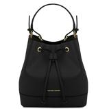 Εικόνα τουSaffiano leather secchiello bag Black