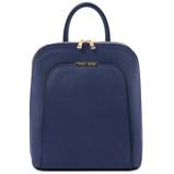 Εικόνα τουSaffiano leather backpack for women Dark Blue
