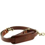 Abbildung vonAdjustable leather shoulder strap Brown