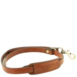 Abbildung vonAdjustable briefcases leather shoulder strap Honey