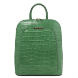 Imagine dinCroc print leather backpack for women Green