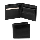 Abbildung vonExclusive 2 fold leather wallet for men with coin pocket Black