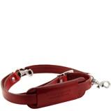 Image deAdjustable leather shoulder strap Red