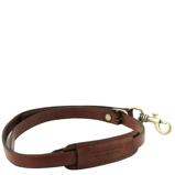 Εικόνα τουAdjustable briefcases leather shoulder strap Brown