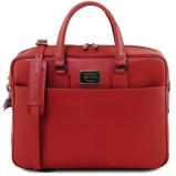 Εικόνα τουSaffiano leather laptop briefcase with front pocket Red
