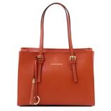Εικόνα τουSaffiano leather handbag Brandy