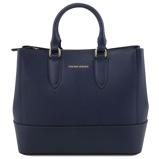 Εικόνα τουSaffiano leather handbag Dark Blue