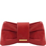 Imagine dinClutch leather handbag Red