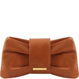 Immagine diClutch leather handbag Cognac
