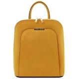 Εικόνα τουSaffiano leather backpack for women Mustard