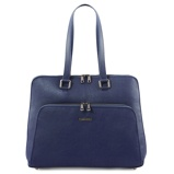 Image ofbusiness bag in soft leather for women Dark Blue