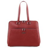 Image ofbusiness bag in soft leather for women Red
