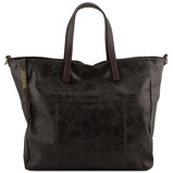 Imagem deAged effect leather shopping bag Black
