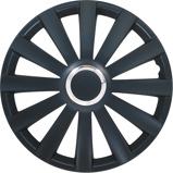 Afbeelding van4-Delige Wieldoppenset Spyder 14-inch Zwart + Chroom Ring