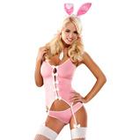 Afbeelding vanRollenspel Lingerie Bunny Suit 4 delig Kostuum L/XL Obsessive