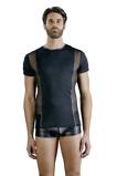 Afbeelding vanNetstof Heren Shirt, Zwart Maat: Small Van NEK