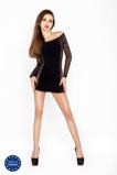 Afbeelding vanZwart mini jurkje met netstof mouwen Maat: One Size Van Passion