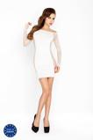 Afbeelding vanWit mini jurkje met netstof mouwen Maat: One Size Van Passion