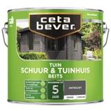 Afbeelding vanCetabever tuinbeits schuur tuinhuis dekkend zijdeglans dekkend, 2,5 l, antraciet