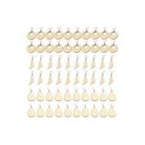 Εικόνα του60Pcs DIY Assembly Crafts Wood Earrings Accessories Set