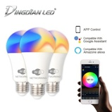 ObrázekDingDian LED 3 Packs E27 LED WIFI Smart Light Bulb 85 265V 9W