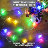 ObrázekDINGDIAN LED DC5V Led Star Shape Fairy Lights Christmas Lights Indoor 5M RGB Battery Operated Christmas Decorations Home Outdoor