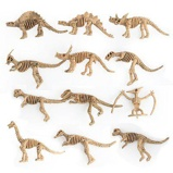 ObrázekDino Fossil Dinosaur Model Educational Toy Gift plastic Dinosaur Skull Home Decoration 12pcs/set