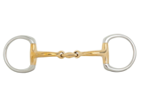 ObrázekBR Double Jointed Eggbutt Snaffle Soft Contact 12 mm Ø 55 mm