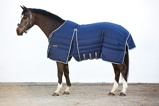 ObrázekRambo Optimo Stable Rug Medium 200g Navy with Beige, Baby Blue & Navy
