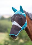 ObrázekShires Fly Mask with Ears & Nose Fine Mesh Teal Shet