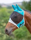 ObrázekShires Fly Mask Met Oren Mesh Teal Pony