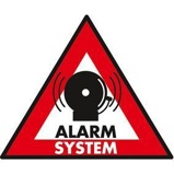Afbeelding vanNedis STCKWA105 Waarschuwingssticker Pictogram Alarmsysteem Set Van 5 Stuks