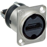 Afbeelding vanNeutrik HDMI 1.3 feedthrough adapter met d form behuizing