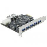 Afbeelding vanDelock PCI Express Card > 5 x external + 2 internal USB 3.0