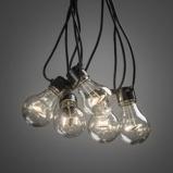 Afbeelding vanKonstmide CHRISTMAS lichtketting Biergarten 10 lampen helder warmwit, kunststof, 0.48 W, energie efficiëntie: A, L: 450 cm