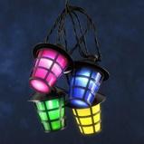 Afbeelding vanKonstmide CHRISTMAS lichtket v buiten Lampion 40 LED lantaarns kleurr, kunststof, 0.06 W, energie efficiëntie: A, L: 975 cm