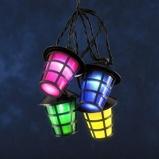 Afbeelding vanKonstmide CHRISTMAS lichtket v buiten Lampion 20 LED lantaarns kleurr, kunststof, 0.06 W, energie efficiëntie: A, L: 475 cm
