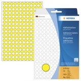 Afbeelding vanEtiket Herma 2211 rond 8mm geel 5632stuks Ronde Etiketten