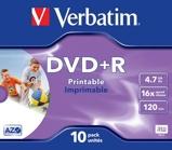 Afbeelding vanVerbatim DVDVER00045B Dvd 4.7 Gb 10 St