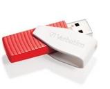 Afbeelding vanVerbatim USB 2.0 Swivel Stick 16GB Rood/Wit