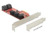 Afbeelding vanDelock PCI Express Karte > 10 x intern SATA 6 Gb/s ? Low Profile Form