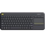 Afbeelding vanLogitech K400 Plus Wireless Touch Zwart QWERTY toetsenbord