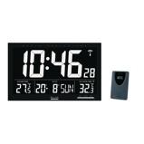 Afbeelding vanBALANCE TIME ZENDERGESTUURDE WAND / TAFELKLOK LCD JUMBO ZWART