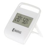 Afbeelding vanNedis Thermometer Hygrometer Indoor White