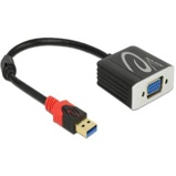 Afbeelding vanAdapter USB 3.0 naar VGA DELOCK 62738 20 cm Zwart