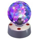 Afbeelding vanParty Fun Lights Discobol lamp met gefacetteerde ruitjes
